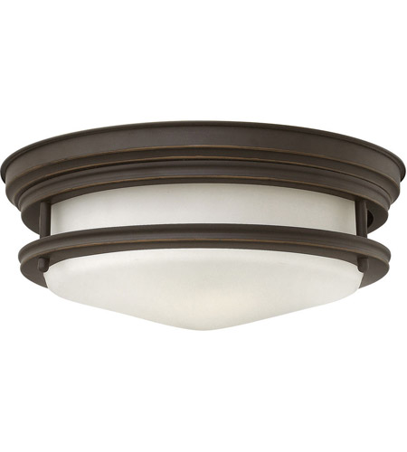 Hinkley 3302OZ Hadley 2 Light 12 inch Oil Rubbed Bronze Flush Mount Ceiling Light in Incandescent, Etched Opal Glass photo