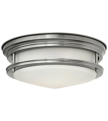 Hinkley Lighting Hadley 1 Light Flush Mount in Antique Nickel 3302AN-LED