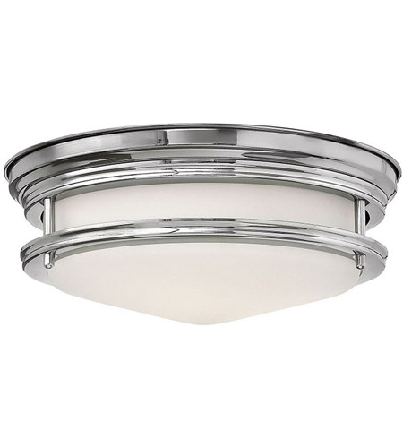 Hinkley 3302CM-LED Hadley LED 12 inch Chrome Flush Mount Ceiling Light photo