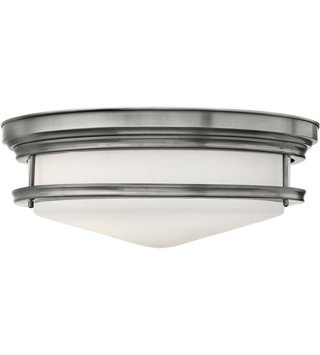 Hinkley 3304AN Hadley 4 Light 20 inch Antique Nickel Flush Mount Ceiling Light in Incandescent, Etched Opal Glass photo