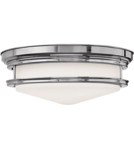 Hinkley 3304CM Hadley 4 Light 20 inch Chrome Foyer Flush Mount Ceiling Light in Incandescent, Etched Opal Glass photo