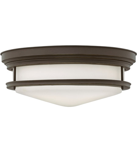 Hinkley 3304OZ Hadley 4 Light 20 inch Oil Rubbed Bronze Flush Mount Ceiling Light in Incandescent, Etched Opal Glass photo