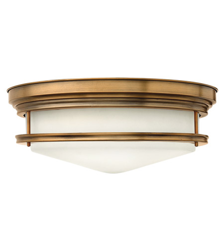 Hinkley Lighting Hadley 3 Light Flush Mount in Brushed Bronze 3304BR-LED photo