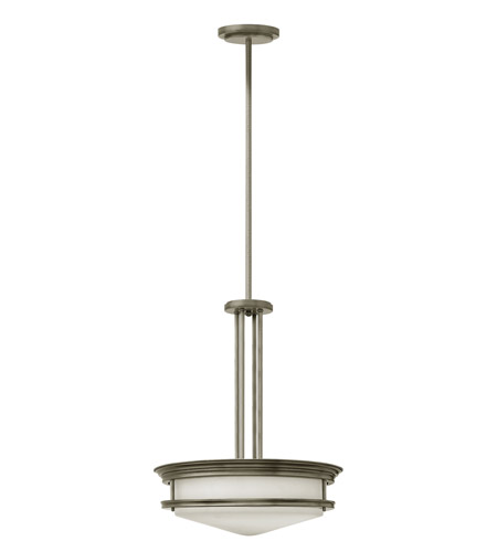Hinkley 3305AN Hadley 4 Light 20 inch Antique Nickel Foyer Ceiling Light in Incandescent, Etched Opal Glass photo