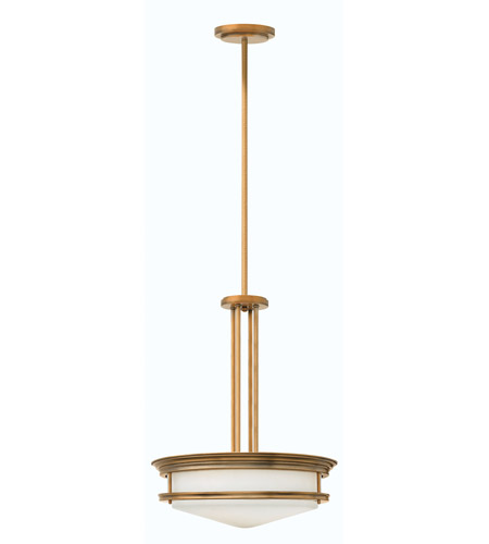 Hinkley 3305BR Hadley 4 Light 20 inch Brushed Bronze Foyer Ceiling Light in Incandescent, Etched Opal Glass photo