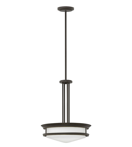 Hinkley 3305OZ Hadley 4 Light 20 inch Oil Rubbed Bronze Foyer Ceiling Light in Incandescent, Etched Opal Glass photo