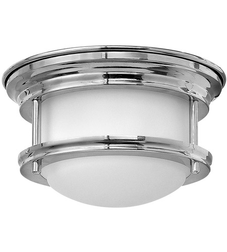 Hinkley 3308CM Hadley LED 8 inch Chrome Foyer Flush Mount Ceiling Light in Dry Rated, Etched Opal Glass photo