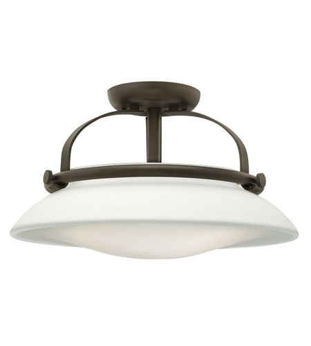 Hinkley Lighting Hutton 3 Light Semi Flush in Oil Rubbed Bronze 3321OZ photo