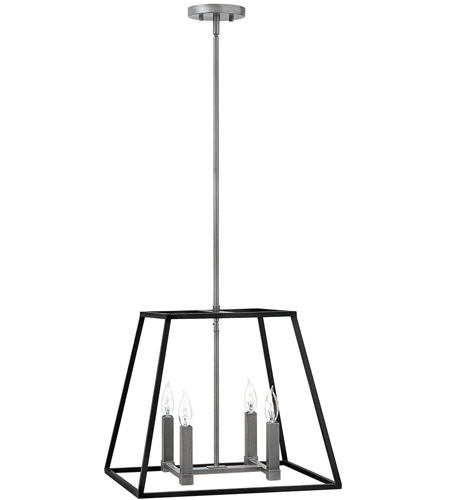 Hinkley 3334dz fulton 4 light 18 inch aged zinc foyer pendant hinkley 3334dz fulton 4 light 18 inch aged zinc foyer pendant ceiling light aloadofball Images