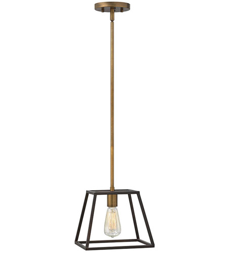 Hinkley 3337BZ Fulton 1 Light 10 inch Bronze Mini-Pendant Ceiling Light photo