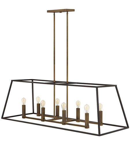 Hinkley 3338BZ Fulton 8 Light 48 inch Bronze Linear Foyer Ceiling Light photo