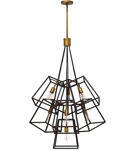 Fulton 7 Light 28 Inch Bronze Foyer Ceiling