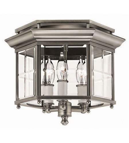 Hinkley Signature Semi Flush 3Lt Foyer in Pewter 3362PW photo