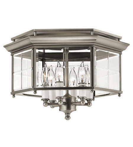 Hinkley Signature Semi Flush 6Lt Foyer in Pewter 3363PW photo