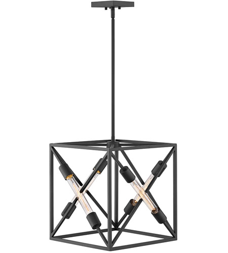 Hinkley 3374sk hewitt 4 light 15 inch satin black chandelier pendant hinkley 3374sk hewitt 4 light 15 inch satin black chandelier pendant ceiling light photo aloadofball Image collections