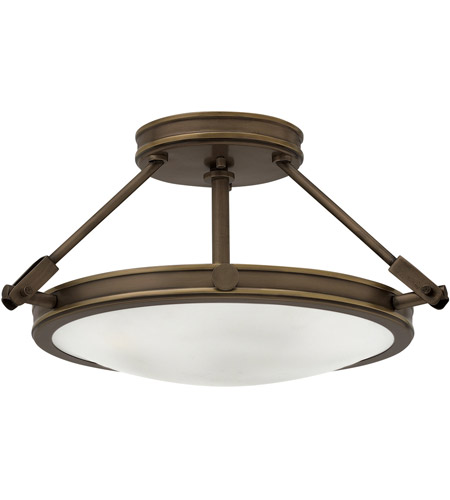 Hinkley 3381lz collier 3 light 17 inch light oiled bronze foyer semi hinkley 3381lz collier 3 light 17 inch light oiled bronze foyer semi flush mount ceiling aloadofball Choice Image