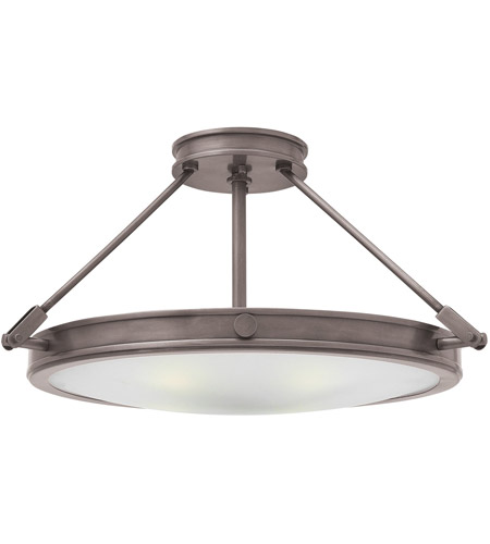 Hinkley 3382AN Collier 4 Light 22 inch Antique Nickel Foyer Semi-Flush Mount Ceiling Light in Incandescent photo