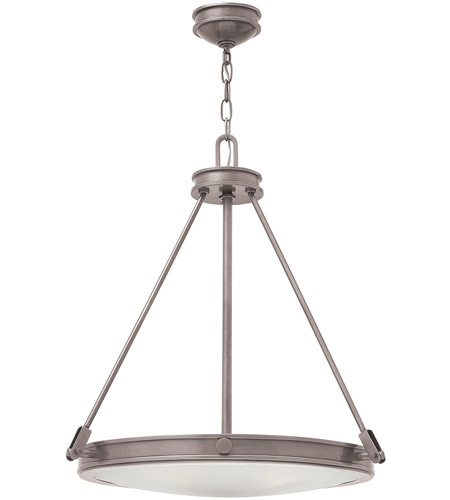 Hinkley 3384AN Collier 4 Light 22 inch Antique Nickel Inverted Pendant Ceiling Light photo