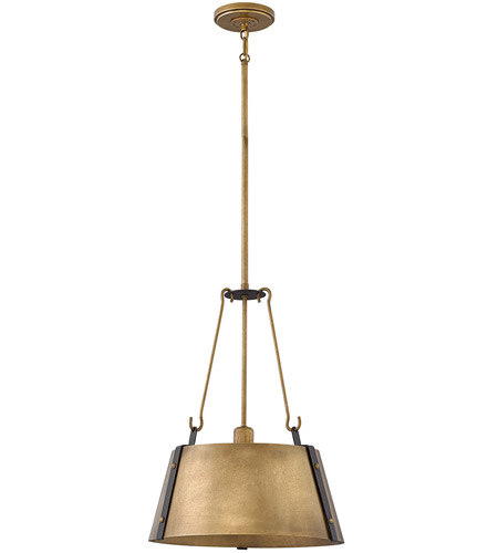 Hinkley 3394RS Cartwright 1 Light 15 inch Rustic Brass Pendant Ceiling Light photo