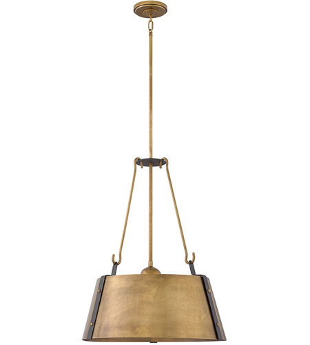 Hinkley 3395rs Cartwright 3 Light 20 Inch Rustic Br Pendant Ceiling