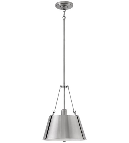 Hinkley 3397PL Cartwright 1 Light 12 inch Polished Antique Nickel Pendant Ceiling Light photo