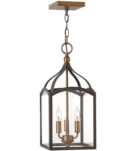 Hinkley Lighting Clarendon 3 Light Hanging Foyer in Bronze 3413BZ photo