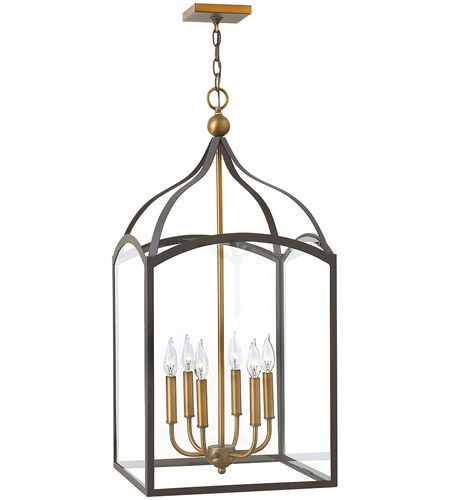 Hinkley 3414BZ Clarendon 6 Light 16 inch Bronze Hanging Foyer Ceiling Light photo