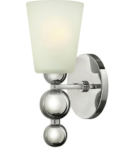 Hinkley Lighting Zelda 1 Light Wall Sconce in Polished Nickel 3440PN photo