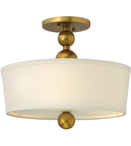 Hinkley 3441vs zelda 3 light 15 inch vintage brass foyer semi hinkley 3441vs zelda 3 light 15 inch vintage brass foyer semi flush mount ceiling light in incandescent etched glass aloadofball Choice Image