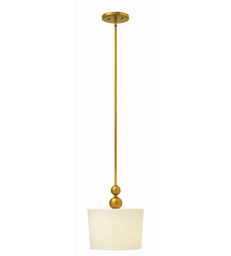 Hinkley Lighting Zelda 1 Light Mid-Pendant in Vintage Brass 3442VS