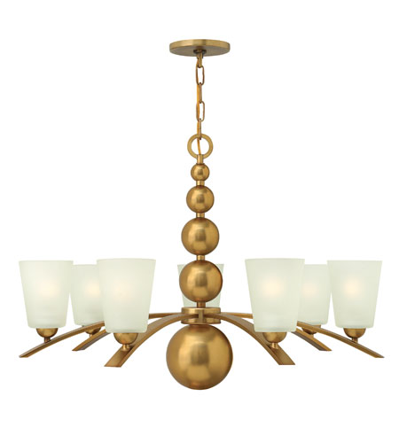 Hinkley Lighting Zelda 7 Light Chandelier in Vintage Brass 3446VS photo
