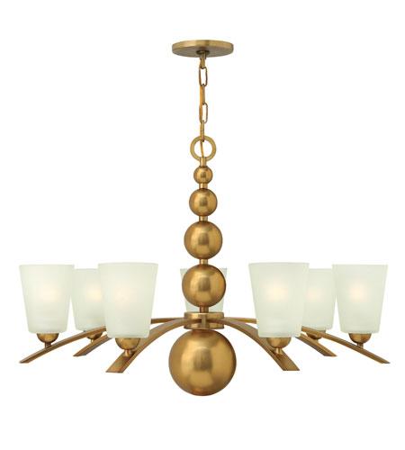 Hinkley Lighting Zelda 7 Light Chandelier in Vintage Brass 3446VS