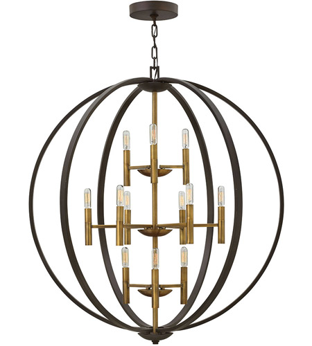 Hinkley 3469SB Euclid 12 Light 36 inch Spanish Bronze Foyer Light Ceiling Light photo thumbnail