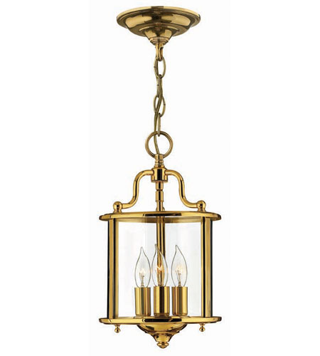 Hinkley Lighting Gentry 3 Light Hanging Foyer in Polished Brass 3470PB photo