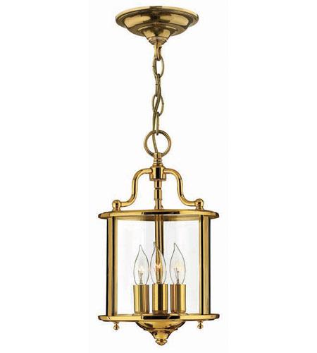 Hinkley Lighting Gentry 3 Light Hanging Foyer in Polished Brass 3470PB
