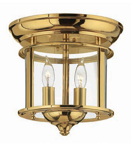 Hinkley Lighting Gentry 2 Light Semi Flush in Polished Brass 3472PB photo