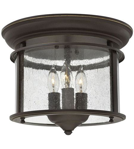 Hinkley 3473OB Gentry 3 Light 12 inch Olde Bronze Foyer Flush Mount Ceiling Light photo