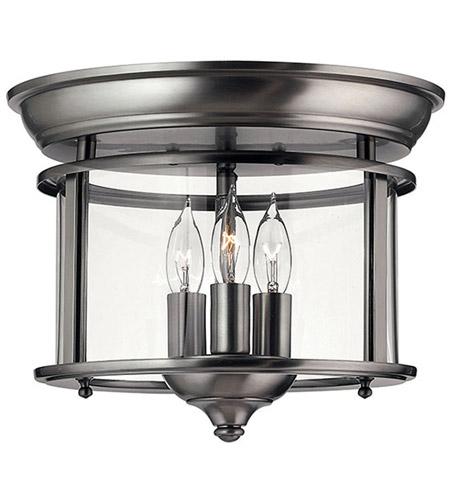 Hinkley Lighting Gentry 3 Light Semi Flush in Pewter 3473PW