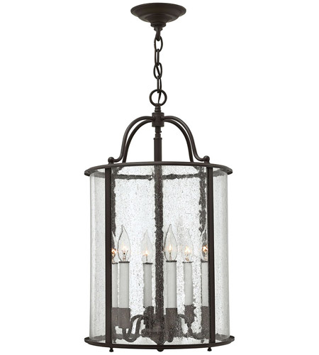 Hinkley 3478OB Gentry 6 Light 14 inch Olde Bronze Foyer Ceiling Light in Seedy Bent photo