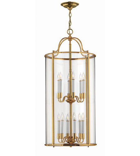Hinkley Lighting Gentry 12 Light Hanging Foyer in Polished Brass 3479PB photo