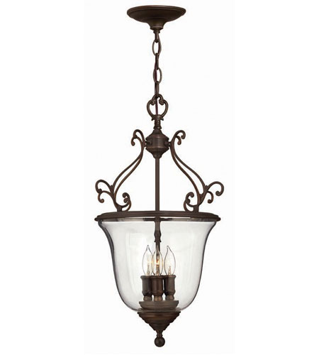 Hinkley Teardrop Hanger 3Lt Foyer in Olde Bronze 3483OB photo