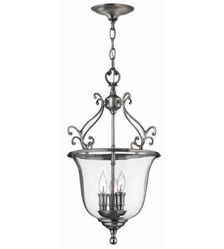 Hinkley Teardrop Hanger 3Lt Foyer in Pewter 3483PW photo