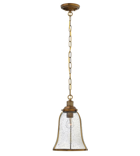 Hinkley Lighting Marlowe 1 Light Mini-Pendant in Heritage Brass 3494HB
