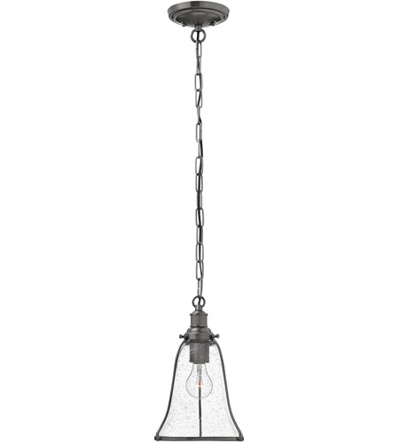Hinkley Lighting Marlowe 1 Light Mini-Pendant in Antique Nickel 3497AN