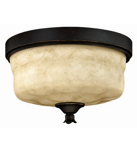 Hinkley Lighting Casa 3 Light Flush Mount In Olde Black 3501ol
