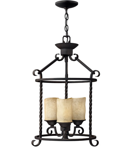 Hinkley Lighting Casa 3 Light Hanging Foyer in Olde Black 3502OL photo