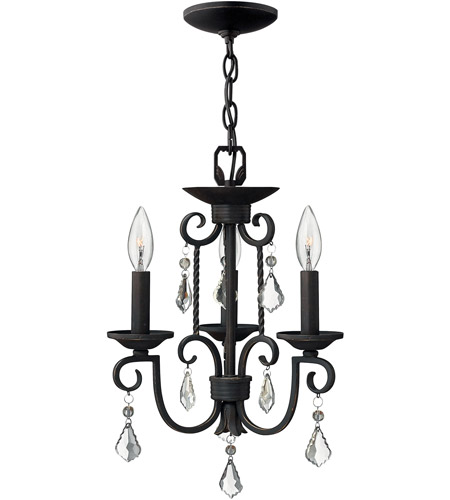 Hinkley Lighting Casa 3 Light Chandelier in Olde Black 3503OL photo