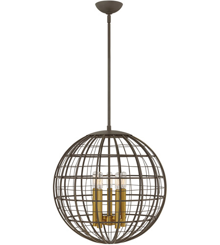 Hinkley 3515OR Terra 5 Light 19 inch Oiled Bronze Pendant Ceiling Light photo