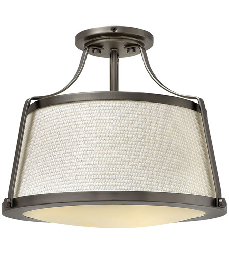 Hinkley Lighting Charlotte 3 Light Foyer in Antique Nickel 3521AN