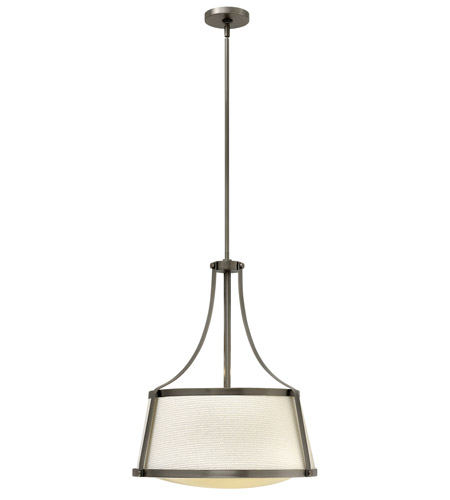 Hinkley Lighting Charlotte 3 Light Foyer in Antique Nickel 3524AN